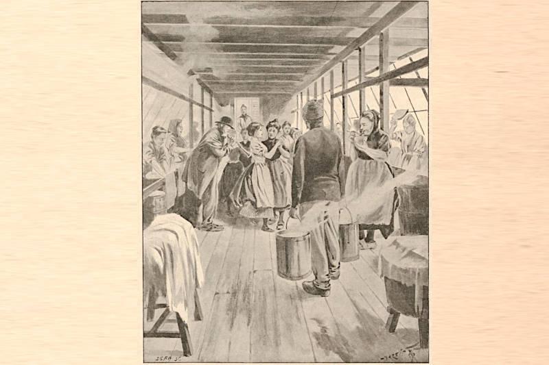 bal au bateau-lavoir extrait du Monde illustré du 30 décembre 1899