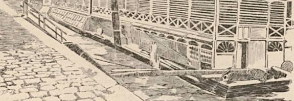 le bateau lavoir du pont Neuf extrait du Monde illustré du 30 décembre 1899