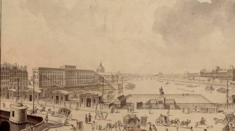 vue de la Seine et du pont Neuf avec éclairage du XVIIIe siècle