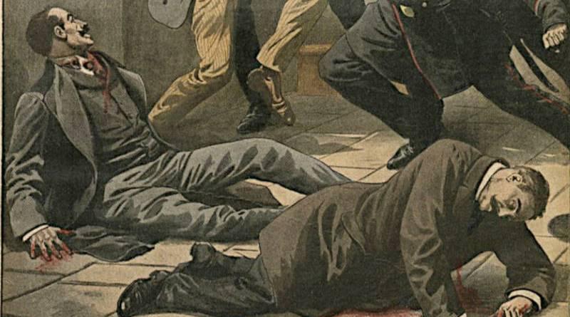 blessés lors d'une attaque - extrait du Journal illustré du 23 janvier 1910