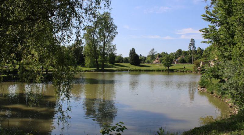 le lac du hameau de la reine à Trianon