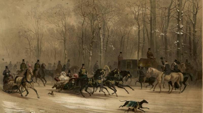 Les traîneaux du Bois de Boulogne par E Guérard