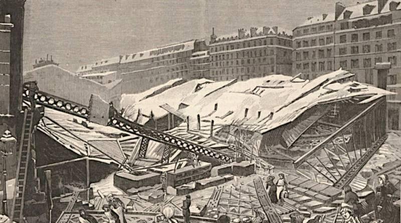 effondrement du marché saint Martin extrait du Monde illustré du 20 décembre 1879