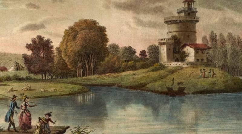 Tour de la Belle Gabrielle extrait d'une promenade dans les Jardins d'Ermenonville