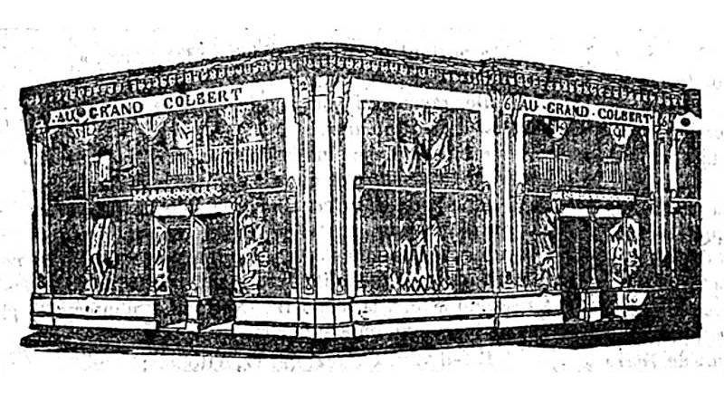 illustration du Grand Colbert extrait du Constitutionnel du 18 décembre 1843