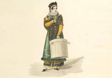 la modiste extrait de costumes d'ouvrières parisiennes par Georges Gatine