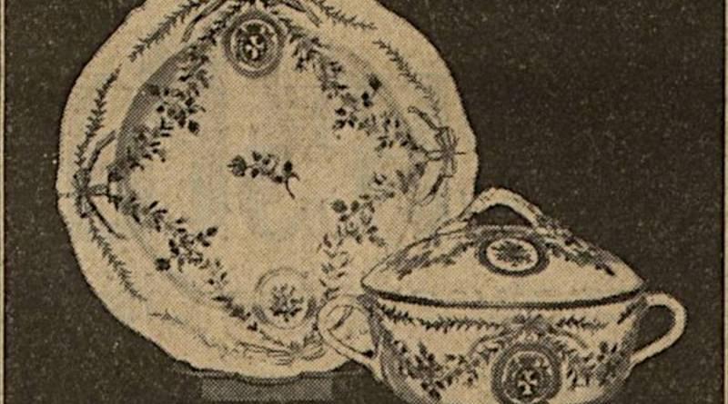 tasse à bouillon avec la marque du comte d'Artois extrait de l'Excelsior du 28 novembre 1929