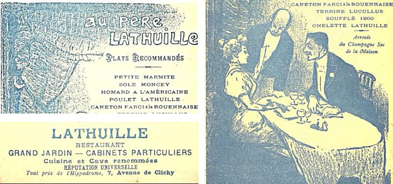 publicité pour le père Lathuile