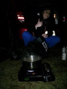 Tasmanie backpacker camping