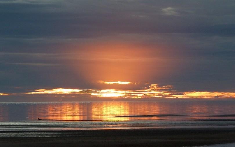Le coucher de soleil sur la péninsule