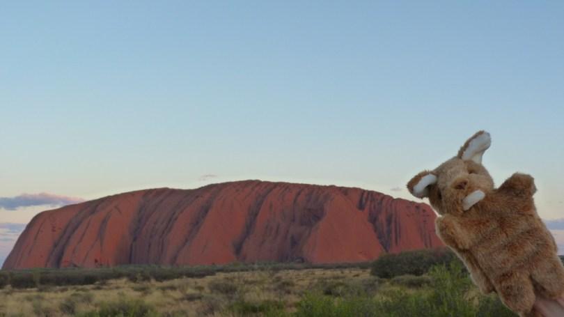 Uluru au soleil couchant
