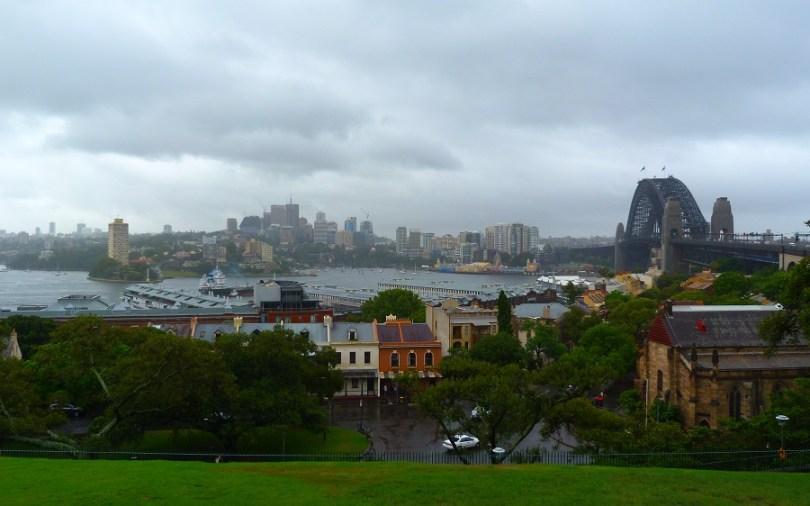 La vue depuis Observatory Hill sur Luna Park et Harbour Bridge