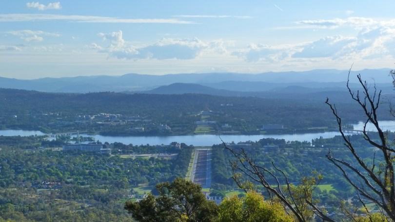La vue sur Canberrra depuis Mount Ainslie