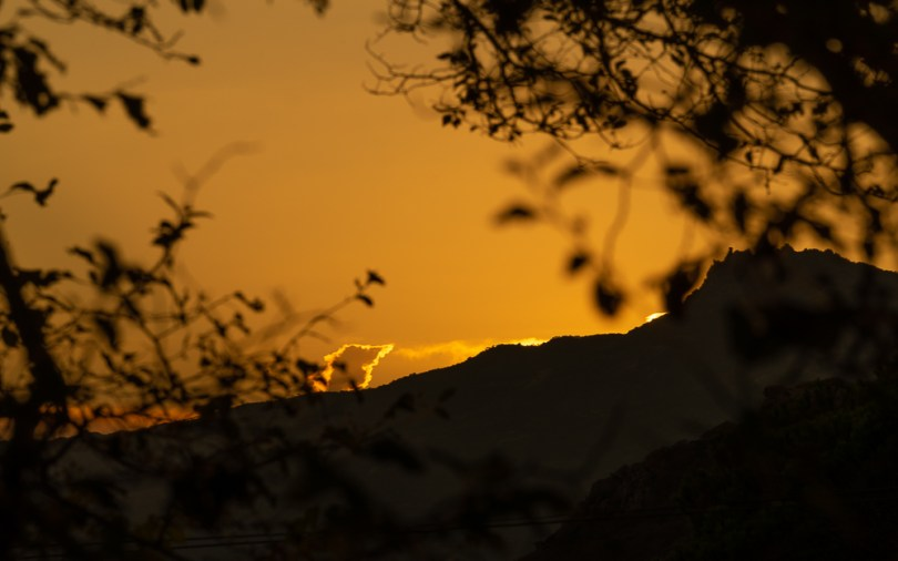 Coucher de soleil sur l'Alta Rocca