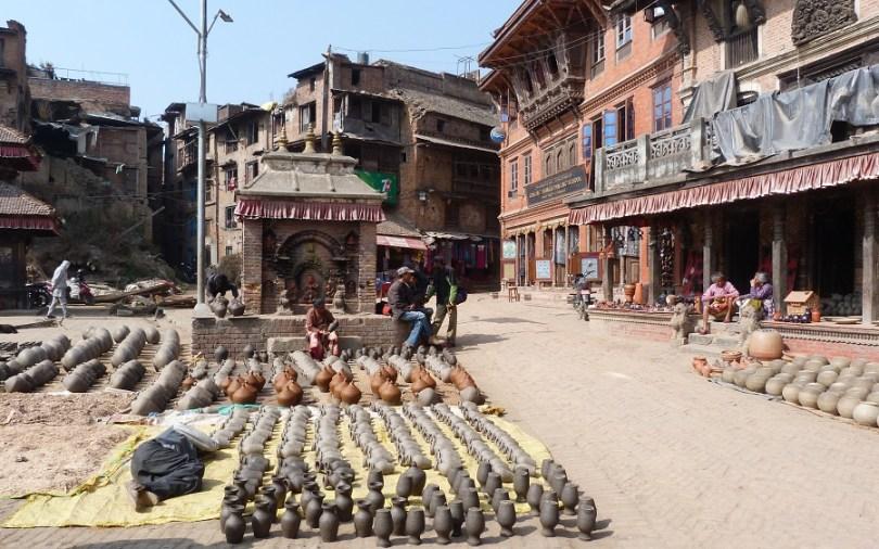 Bahktapur quartier potier poteries nepal