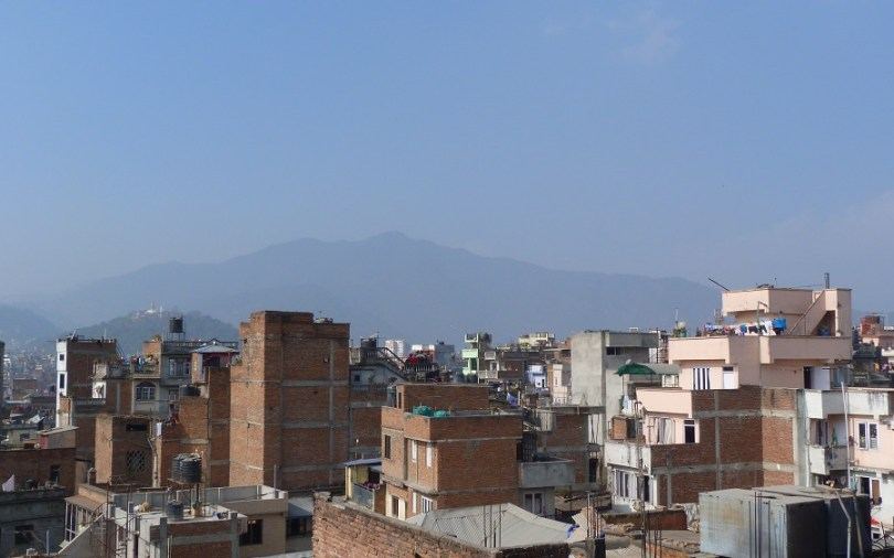 Nepal Katmandou Toits Himalaya