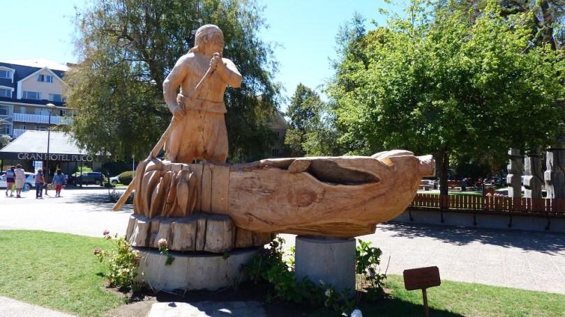 Pucon sculpture indien chili