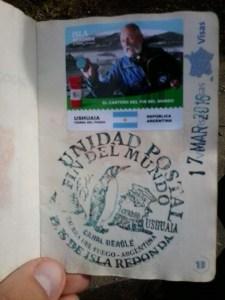 Tampon passeport ushuaia facteur