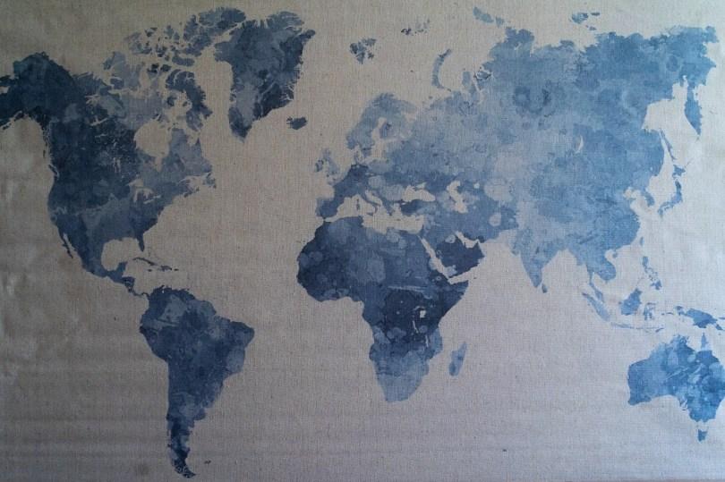 Carte Monde voyages