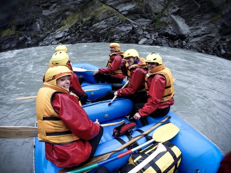 Rafting nouvelle zelande