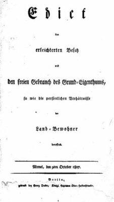 Das Titelblatt des Oktoberedikts