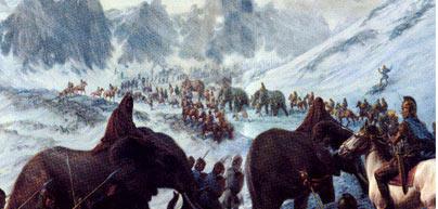 Aníbal atravesando los Alpes