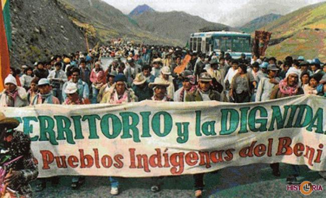 Marcha por el Territorio y Dignidad, 1990.