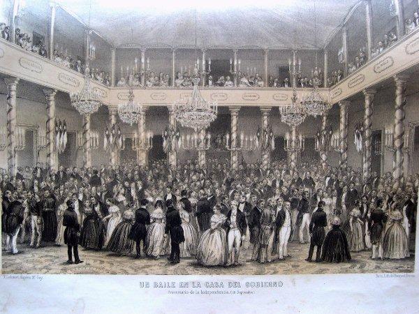 Baile de Gobierno durante el siglo XIX