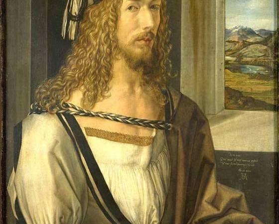 Autorretrato com Luvas, Albrecht Dürer