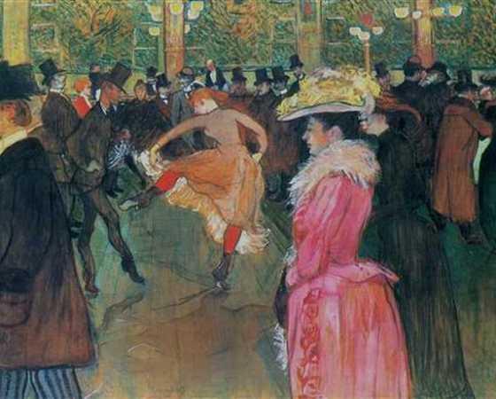Baile no Moulin Rouge, Toulouse-Lautrec