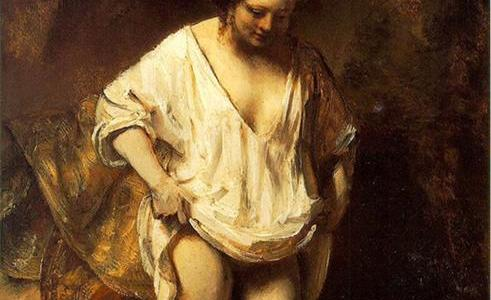 Mulher Banhando-se no Riacho, Rembrandt