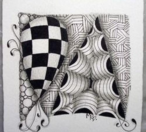 Meditar desenhando: Zentangle