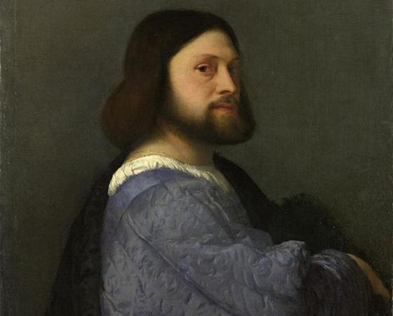 Retrato de Homem Vestido de Azul, Ticiano Vecellio