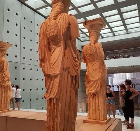 Cariátides no Museu da Acrópole