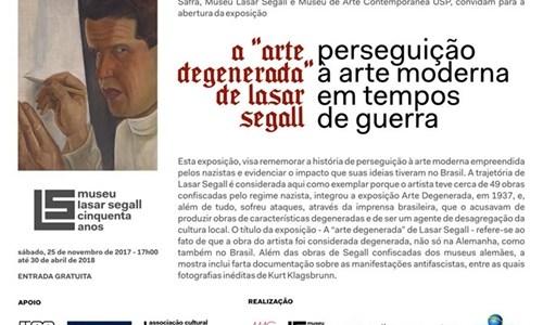"""A """"Arte Degenerada"""" de Lasar Segall"""