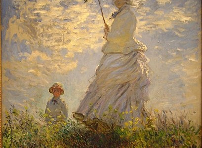 Passeio ou Mulher com Sombrinha, Claude Monet