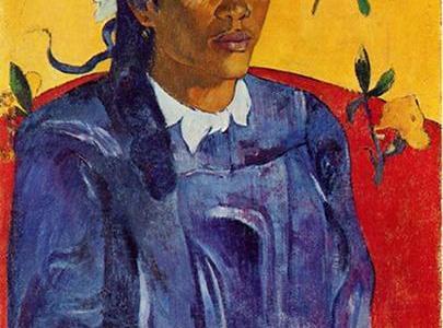 Mulher com uma Flor, Paul Gauguin