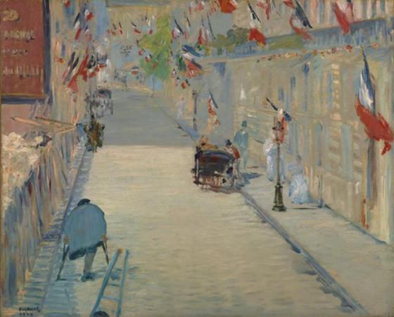 Rua Mosnier, Édouard Manet