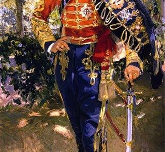 Retrato do Rei Dom Afonso XIII com Uniforme de Húsares, Sorolla