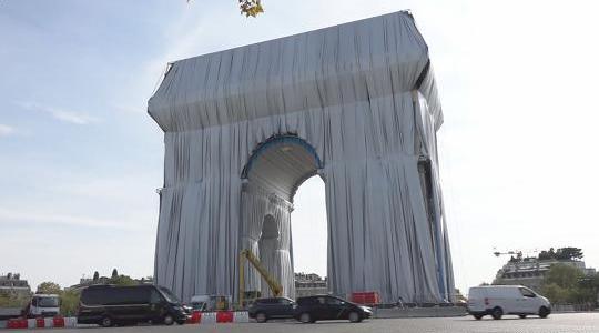 Arco do Triunfo de Paris embrulhado