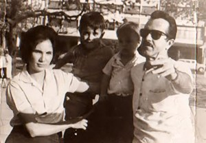 Jayme Miranda com sua esposa, Elza Miranda, e filhos