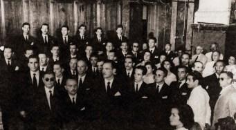 Turma de Direito na formatura em dezembro de 1951