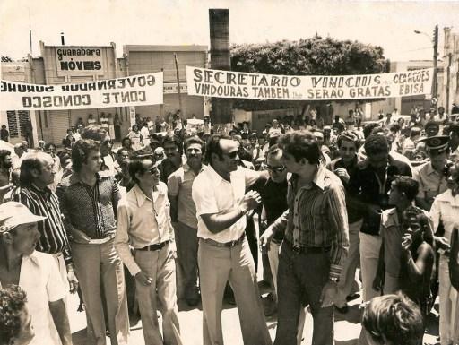 Inauguração de obra durante sua passagem pelo governo do estado de Alagoas