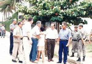 Deputado federal Vitório Malta, FHC, Renan Calheiros e Manoel Gomes de Barros