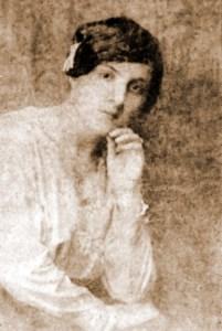 Ádila, a esposa, no ano de seu casamento com Jorge, em 1917