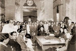 Barão de Vandesmet em uma reunião na Associação Comercial