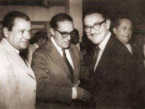 Abreu Sodré, Carlos Lacerda e Teotônio Vilela em Maceió, agosto de 1964