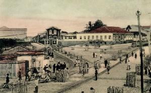 Boca de Maceió no final do século XIX. Hoje é a Praça dos Palmares