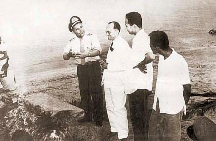 Coronel Mário Lima, Théo Brandão e Carivaldo Brandão na operação salvamento do Gogó da Ema em 1955