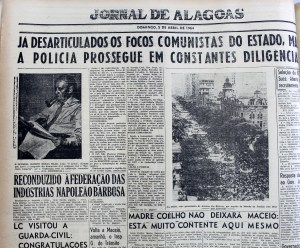 Jornal de Alagoas do dia 5 de abril de 1964